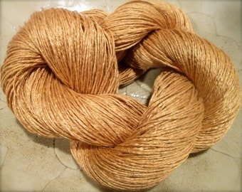 """Wet Spun Linen Yarn Soft & Durable """"Straw"""" Spinning and Weaving"""