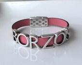 Borzois Leather Bracelet Snap Closure Choice of Colors