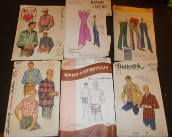 Inventory 106 Vintage Sewing Patterns this is a Lot of 6 size 36 mens