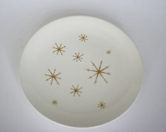 vintage star glow atomic plate ironstone by royal china