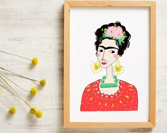 Frida Kahlo Poster A4 Print