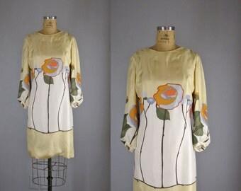1960s Bill Blass dress / iconic mod print / Bill Blass Blooms dress