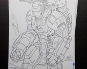 Warmachine Avenger loose sketch by Boo rudetoons