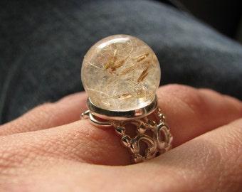 Make A Wish Dandelion Seed Ring (silver tone)