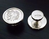 Wax Seal Pendant, Lions Head Stamping.