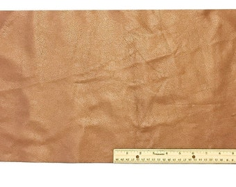 UPHOLSTERY LEATHER Piece Cowhide Light Brown Light Weight 2 Square Feet 12 x 24 inches