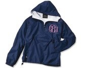Monogrammed Rain Pullover Fleece Lined, rain jacket
