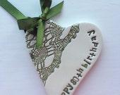 80th eightieth birthday ceramic heart gift card in presentation box