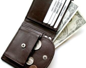 Soft Genuine Leather Bifold Men / Gents Vintage Wallet - 1990's collection , hard to find