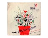 "Erik Nitsche 10-inch record album design, 1950. ""Leroy Anderson Conducts"" LP"