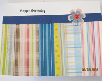 handcrafted brthday card