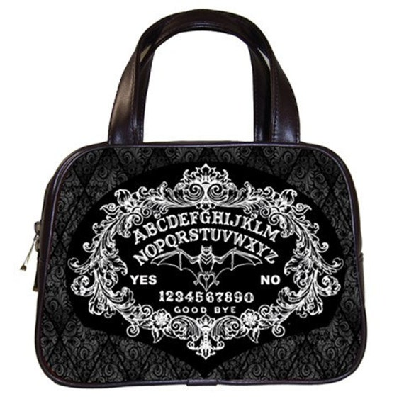 Ornate Ouija Board with Bat Handbag