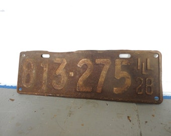 Antique 1928 License Plate