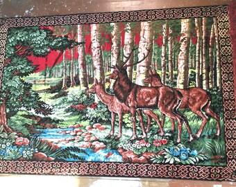 Deer Rug or Tapestry