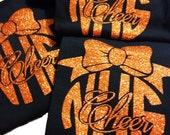 Customized Cheer shirt, Glitter team shirt
