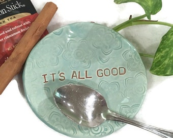 It's All Good Spoon Rest in Pale Blue - Ready to Ship