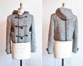 Vintage SPORTMAX wool tweed coat w/ toggles