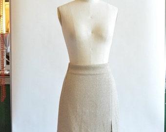 30% OFF STOREWIDE / Vintage 1980s designer METALLIC mini skirt