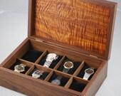 Men's Walnut & Koa  Watch Box- Holds 8