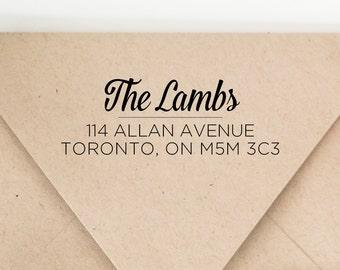Custom Elegent Last Name Return Address Stamp - Wedding Return Address Stamp