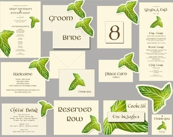 Lord of the Rings Hobbit theme Wedding Paper goods decorations place cards table numbers menus programs