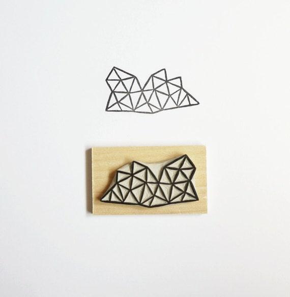 Crystal Configuration 18 - Hand Carved Stamp