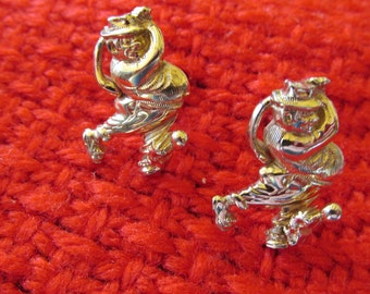 Hickok Gold Tone Golfer Cuff Links Made in USA Perfect Gift