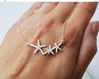 Sea Necklace,Starfish,The Ocean,Starfish Necklace,Silver Necklace,Sterling Silver,Necklace,Everyday Necklace,Simple Necklace