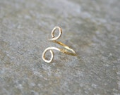 CLEARANCE Gold Knuckle Ring Double Loop size 4