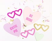 Ready to Ship - Valentine's Day Photo Props - Photobooth - Birthday Photo Booth - Wedding - Selfie - Bachelorette
