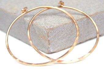 Handmade gold fill hoop earrings, delicate earrings, gift for her, birthday gift