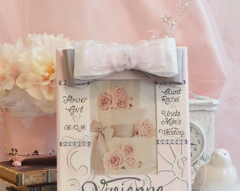 Personalized Hand Painted Flower Girl Frame