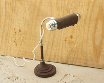 Vintage 40s-50s Desk Lamp/ Art Deco/ Industrial/ Mid Century