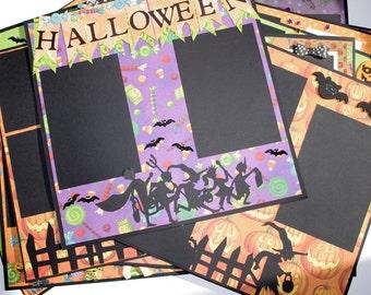 Halloween Boy or Girl 13 piece 12x12 Halloween Premade Scrapbook Layouts