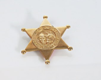 1950 Quaker Oats Roy Rogers and Trigger Deputy Sheriff Badge Cereal Premium