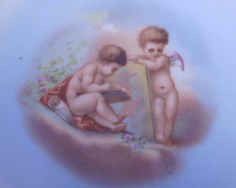 Antique Limoges France Cherubs Plate