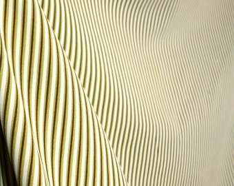Green And Brown Striped Fabric