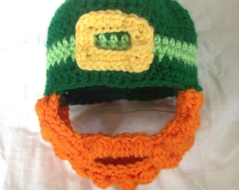 Child Size Irish Hat with Beard.  Made to Order.