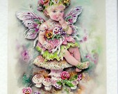 Fairy Hand Crafted 3D Decoupage Card, Blank for any Occasion (2019), Birthday Card, Fairy Card, Layered Card, Fantasy Card, Sister Card