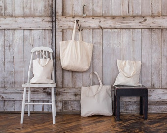 Standard Natural Cotton Tote Bag - Set of 6