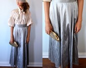 Vintage Grey Silk Skirt, Vintage Silk Skirt, Vintage Raw Silk Skirt, Linda Lundstrom, Vintage Maxi Silk Skirt, Vintage Maxi Skirt