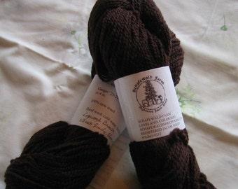 Hand dyed Jacob yarn