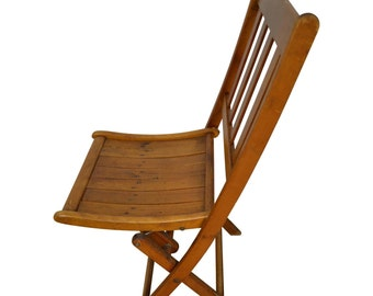 Wooden Folding Chairs, Two Styles; 60 chairs available