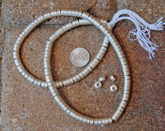 Indian Silver Metal Disk Beads