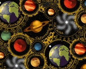 Planets Black - Celestial Collection - In the Beginning - Jason Yenter - 1 yard - More Available - BTY