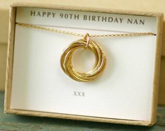 90th birthday gift for women, mom gift for grandma, 9 year anniversary gift - Lilia