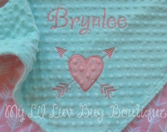 Baby blankets personalized - baby girl blankets personalized - baby shower gift - handmade baby blanket- custom baby blanket - made to order