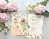 Bridal Shower Invitation, Bridal Shower Invites, Art Deco Bridal Shower Invitations, Shower Invitations, Art Deco Spring Bride