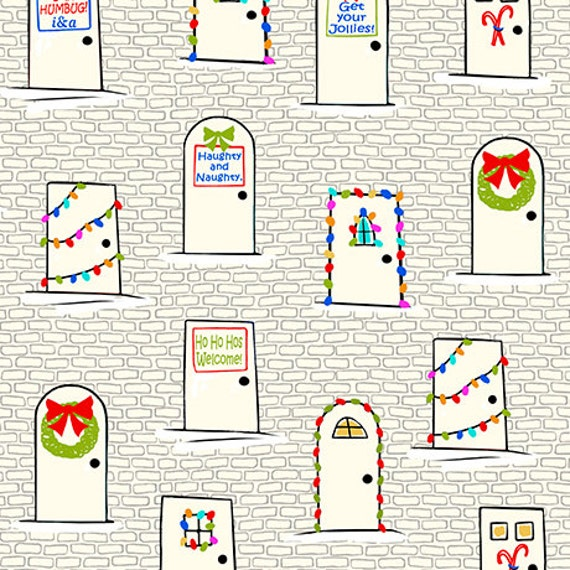 Naughty or nice from ink and arrow full or half yard decorated doors