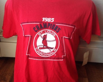 St. Louis Cardinals Officially Licensed 1985 Champions collectible t shirt never worn with tags